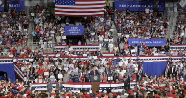 Trump blasts 4 congresswomen; crowd roars, 'Send her back!'