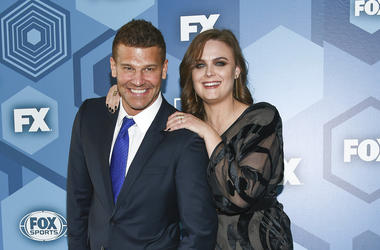 David Boreanaz and Emily Deschanel attend the FOX Networks 2016 Upfront Presentation Party in New York