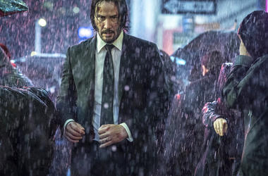"This image released by Lionsgate shows Keanu Reeves in a scene from ""John Wick: Chapter 3 - Parabellum."""