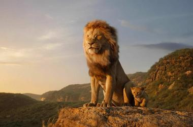 """Disney shows characters, from left, Mufasa, voiced by James Earl Jones, and young Simba, voiced by JD McCrary, in a scene from """"The Lion King."""""""