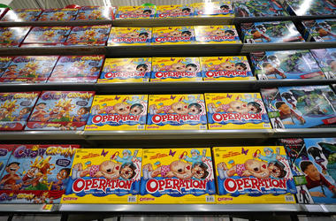 Operation made by Hasbro is displayed shelves in the expanded toy section at a Walmart Supercenter in Houston