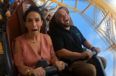 Kelly Tries: Steel Curtain Roller Coaster At Kennywood