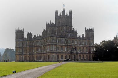 Highclere Castle in Berkshire where filming of Downton Abbey takes place