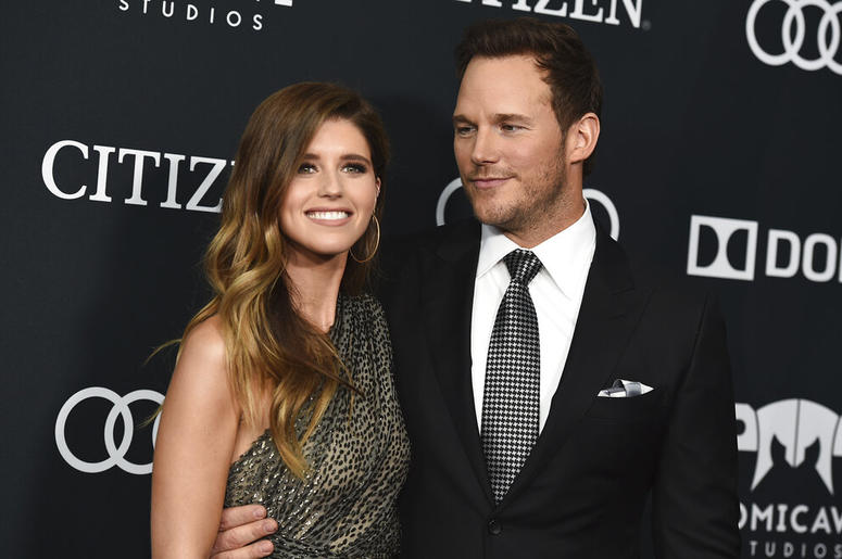 atherine Schwarzenegger, left, and Chris Pratt