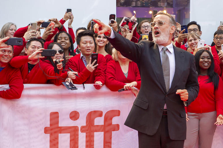 Would you be mine? Hanks unveils his Mr  Rogers at festival