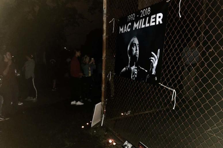 Mac Miller Vigil at Blue Slide Park in Pittsburgh