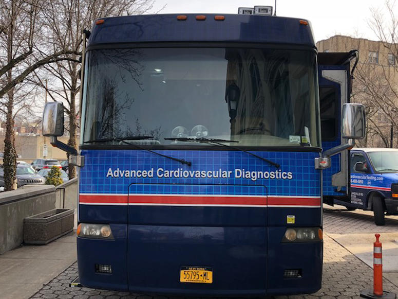 Dr. Perry Frankel's cardiology bus