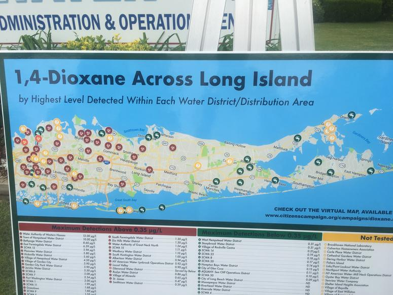 1,4-dioxane on Long Island