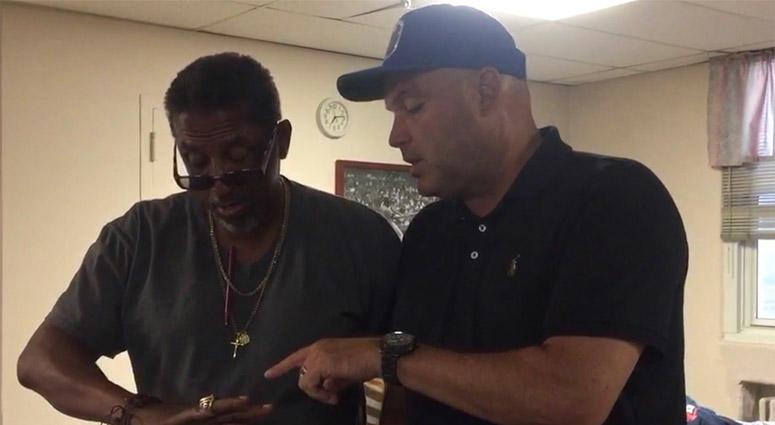 Sean Landeta With Northport Veterans