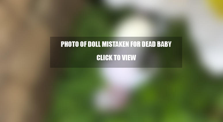 Prop mistaken for dead baby