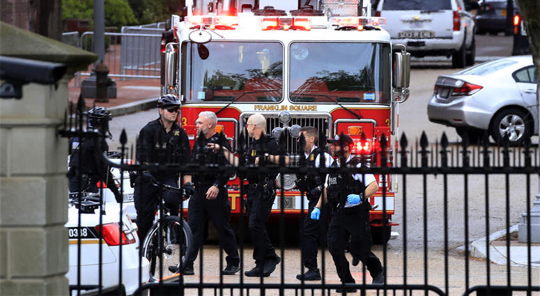 White House fire incident