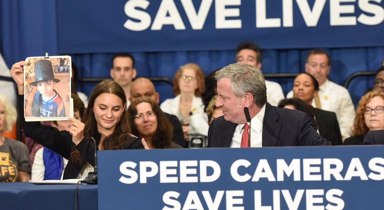 De Blasio speed cameras