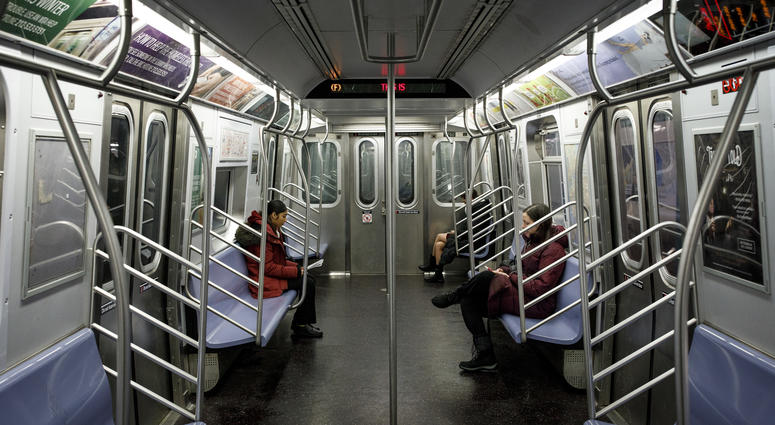 Subway F train