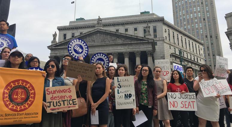 Legal Aid Attorneys Protest Against Kavanaugh