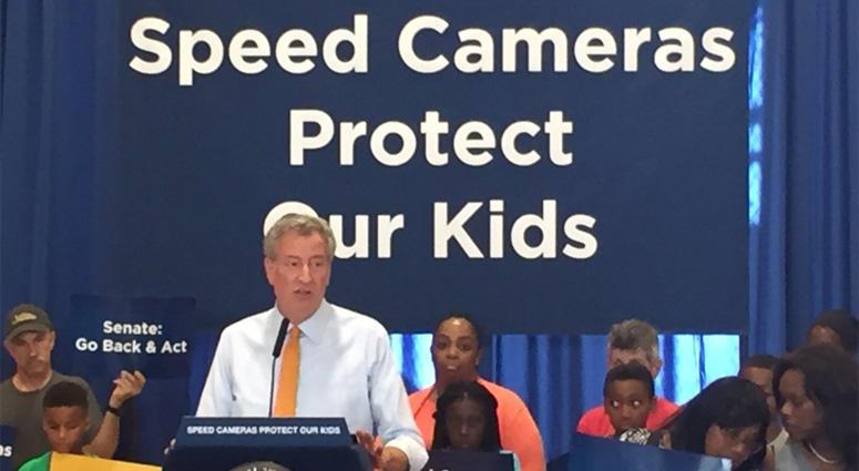 Mayor Bill de Blasio On Speed Cameras