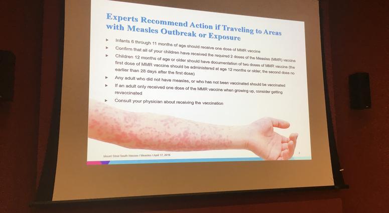 Measles vaccine presentation