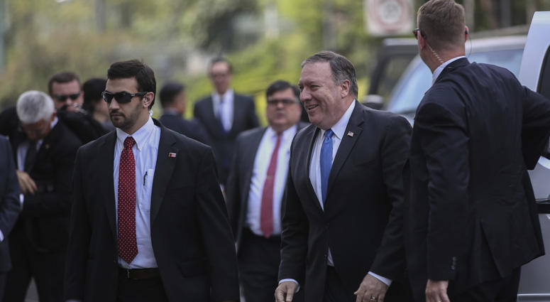 Secretary Of State Mike Pompeo In Mexico