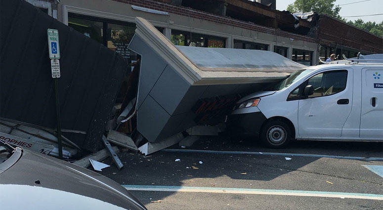 River Edge Awning Collapse