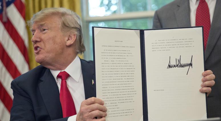 Trump Order On Migrant Children