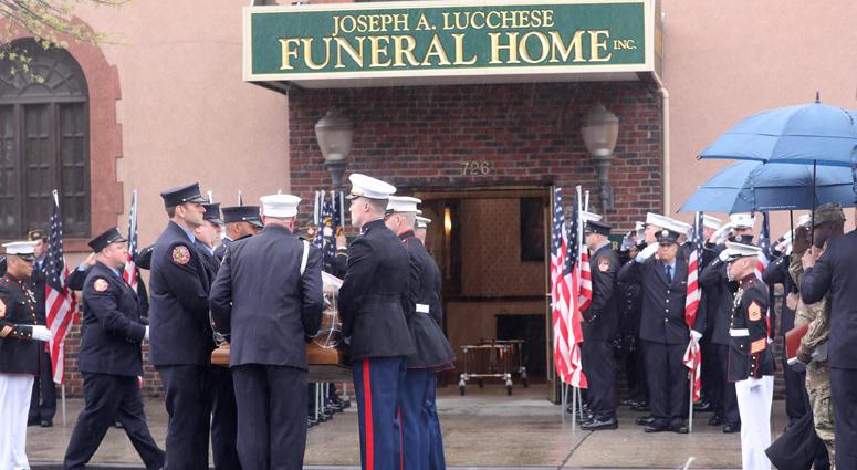 Firefighters Honor Fallen Marine