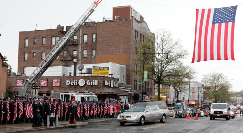 Firefighters Honor Fallen Marine