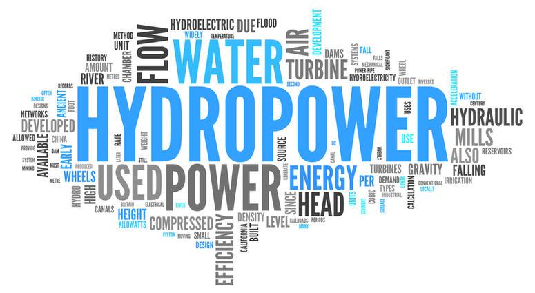 Hydropower word cloud