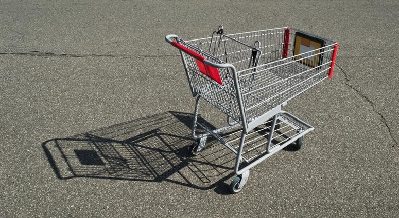 A shopping cart.