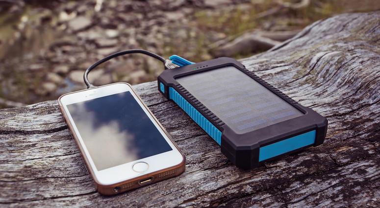 Phone charging on solar power