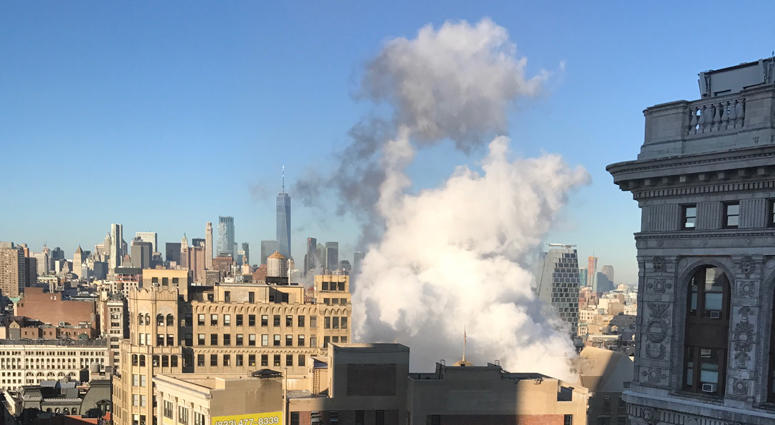 Steam pipe explosion