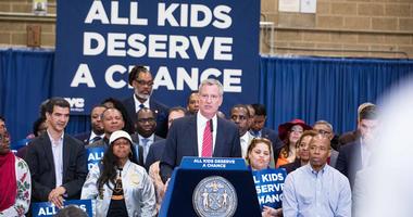 Mayor Bill de Blasio schools announcement