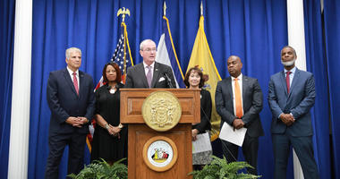 Gov. Phil Murphy with Newark officials