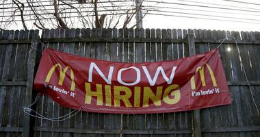 McDonalds now hiring sign