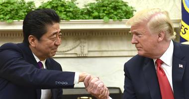 Japanese Prime Minister Shinzo Abe, President Donald Trump