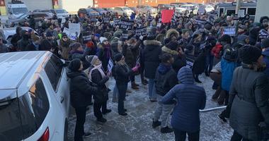 Protesters Metropolitan Detention Center