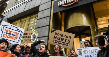 Amazon Headquarters Protest
