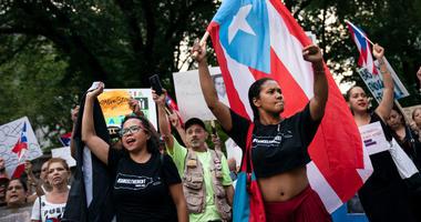 PR Protests Columbus Circle
