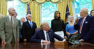 President Trump, Michael Collins, Buzz Aldrin