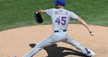 Starting pitcher Zack Wheeler #45 of the New York Mets delivers the ball against the Chicago White Sox at Guaranteed Rate Field on August 01, 2019