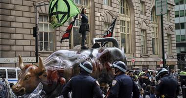 Charging Bull vandalized