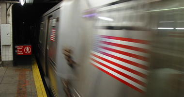 Blurred Subway Train