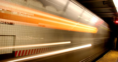 Blurred Subway Train