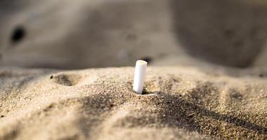Cigarette on beach