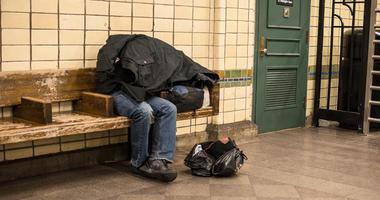 Homeless subway