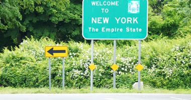 Welcome to New York State Sign