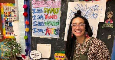 Lauren Mandal in her Randburn Elementary School