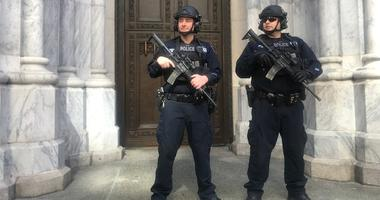 St. Patrick's NYPD police Easter
