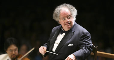 In this July 7, 2006 file photo, Boston Symphony Orchestra music director James Levine conducts the symphony on its opening night performance at Tanglewood in Lenox, Mass.