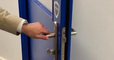 Bullet resistant door