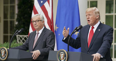 President Donald Trump And European Commission President Jean-Claude Juncker
