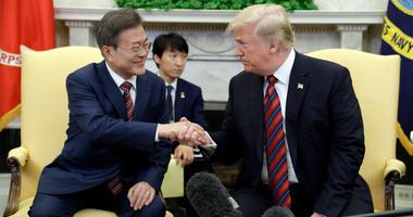 South Korean President Moon Jae-in, President Donald Trump